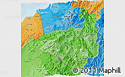 Political Shades 3D Map of Loja