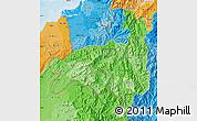 Political Shades Map of Loja