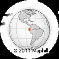 Outline Map of Loja