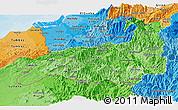 Political Shades Panoramic Map of Loja