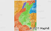 Political Shades 3D Map of Los Rios