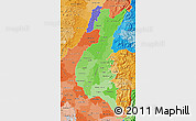 Political Shades Map of Los Rios