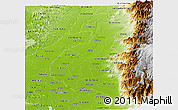 Physical Panoramic Map of Los Rios