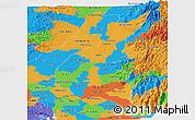 Political Panoramic Map of Los Rios
