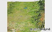 Satellite Panoramic Map of Los Rios
