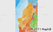 Political Shades Map of Manabi