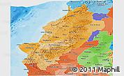 Political Shades Panoramic Map of Manabi