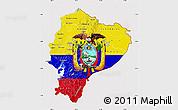 Flag Map of Ecuador, flag centered