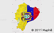 Flag Map of Ecuador, flag aligned to the middle