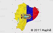 Flag Map of Ecuador, flag rotated