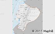 Gray Map of Ecuador, single color outside
