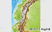 Physical Map of Ecuador