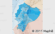 Political Shades Map of Ecuador, lighten