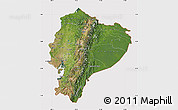 Satellite Map of Ecuador, cropped outside
