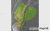 Satellite Map of Ecuador, desaturated
