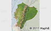 Satellite Map of Ecuador, lighten