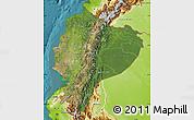 Satellite Map of Ecuador, physical outside, satellite sea