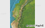 Satellite Map of Ecuador