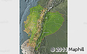 Satellite Map of Ecuador, semi-desaturated
