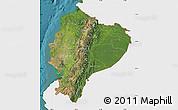 Satellite Map of Ecuador, single color outside