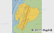 Savanna Style Map of Ecuador, single color outside