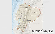 Shaded Relief Map of Ecuador, lighten