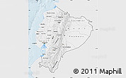 Silver Style Map of Ecuador, single color outside