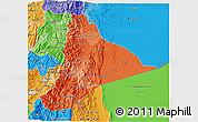 Political Shades 3D Map of Morona Santiago