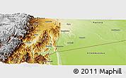Physical Panoramic Map of Morona