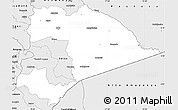 Silver Style Simple Map of Morona