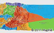 Political Shades Panoramic Map of Morona Santiago