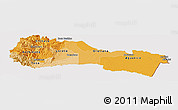 Political Shades Panoramic Map of Napo, cropped outside