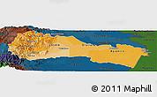 Political Shades Panoramic Map of Napo, darken