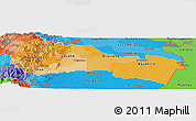 Political Shades Panoramic Map of Napo