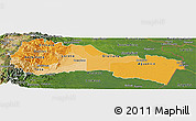 Political Shades Panoramic Map of Napo, satellite outside
