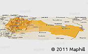 Political Shades Panoramic Map of Napo, shaded relief outside