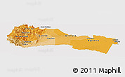 Political Shades Panoramic Map of Napo, single color outside