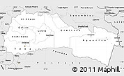 Silver Style Simple Map of Napo