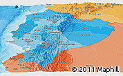 Political Shades Panoramic Map of Ecuador