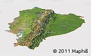 Satellite Panoramic Map of Ecuador, cropped outside