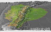 Satellite Panoramic Map of Ecuador, desaturated