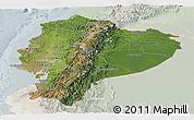 Satellite Panoramic Map of Ecuador, lighten