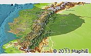 Satellite Panoramic Map of Ecuador, physical outside, satellite sea