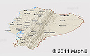 Shaded Relief Panoramic Map of Ecuador, cropped outside