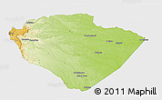 Physical 3D Map of Pastaza, single color outside