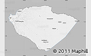 Gray Map of Pastaza, single color outside
