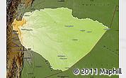 Physical Map of Pastaza, darken