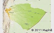 Physical Map of Pastaza, lighten