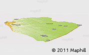 Physical Panoramic Map of Pastaza, cropped outside