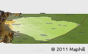 Physical Panoramic Map of Pastaza, darken
